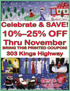 Celebrate & SAVE! 10–25% OFF Thru November. Bring this printed coupon. 303 Kings Highway